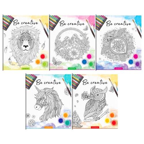 Купить ArtSpace Упаковка тетрадей Рисунки. Be creative Т96к_20976, 5 шт./5 дизайнов, клетка, 96 л., Тетради