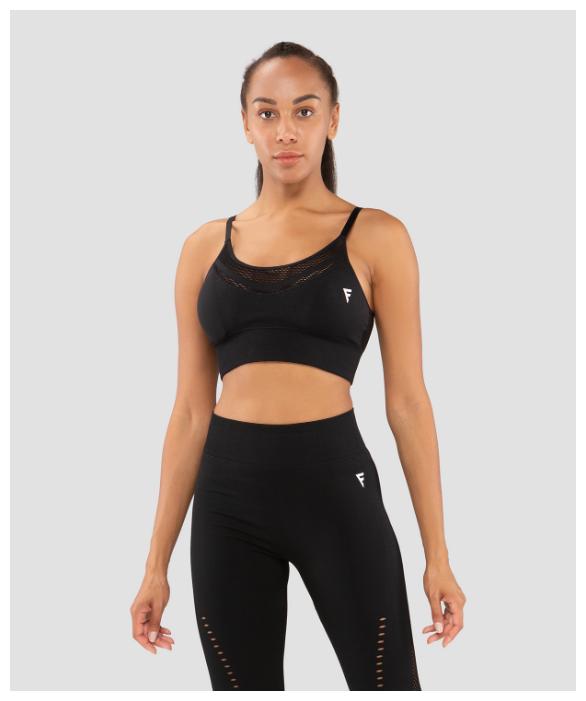 Купить Женский бра-топ Fifty Essential Knit Black Fa-wb-0202-blk, черный размер XS по низкой цене с доставкой из Яндекс.Маркета