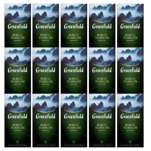 Чай черный Greenfield Magic Yunnan в пакетиках набор 15 упаковок, 375 шт. чай зеленый императорский чай collection china yunnan в пакетиках 500 шт