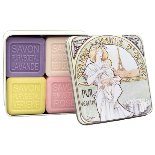 Купить Набор кускового мыла La Savonnerie de Nyons Mucha, 100 г, 4 шт.