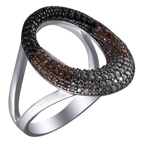 Фото - JV Серебряное кольцо с кубическим цирконием ARS103192W-KO-001-WG, размер 18 jv серебряное кольцо с кубическим цирконием dm0026r ko 001 wg размер 18