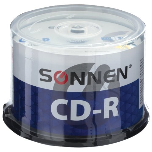 Фото - Диск CD-R SONNEN 700 Mb 52x cake box 50 шт. гриф mb barbell v образный d 30 мм замок гайка кетлера
