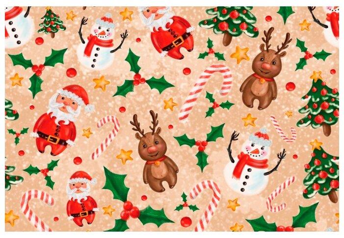 Купить Упаковочная новогодняя бумага №34 6 листов по низкой цене с доставкой из Яндекс.Маркета