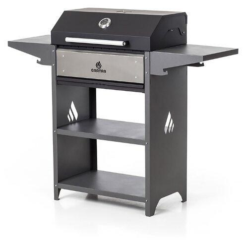 Угольный гриль Gratar Family Optima BBQ, черный/серый