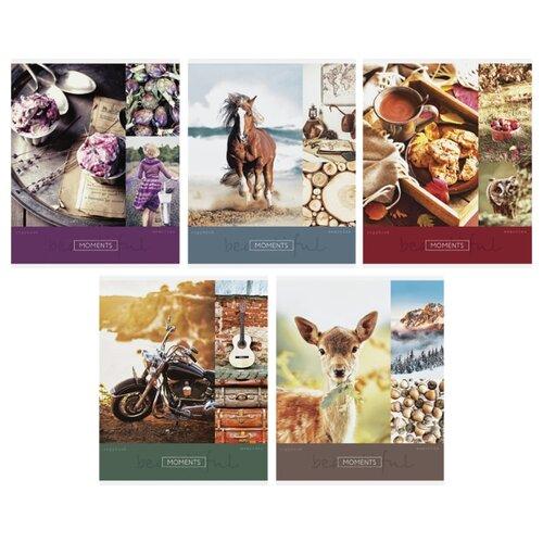 Купить ArtSpace Упаковка тетрадей Стиль. Beautiful moments, Т48к_24342, 10 шт./5 дизайнов, клетка, 48 л., Тетради