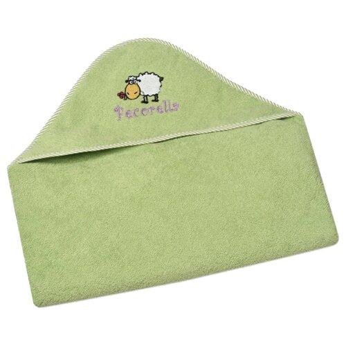 Pecorella Полотенце с капюшоном Овечка банное 90х90 см зеленый