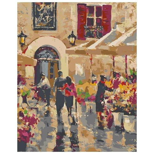 Купить Картина по номерам Живопись по Номерам Цветочная улица , 40x50 см, Живопись по номерам, Картины по номерам и контурам