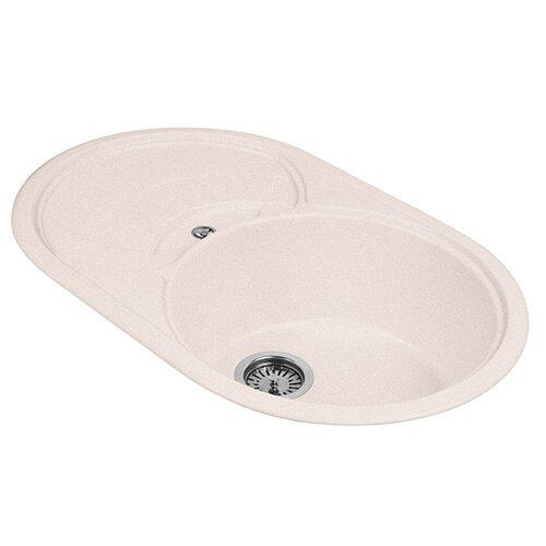 цена Врезная кухонная мойка 78 см А-Гранит M-18S M-18S 311 светло-розовый онлайн в 2017 году