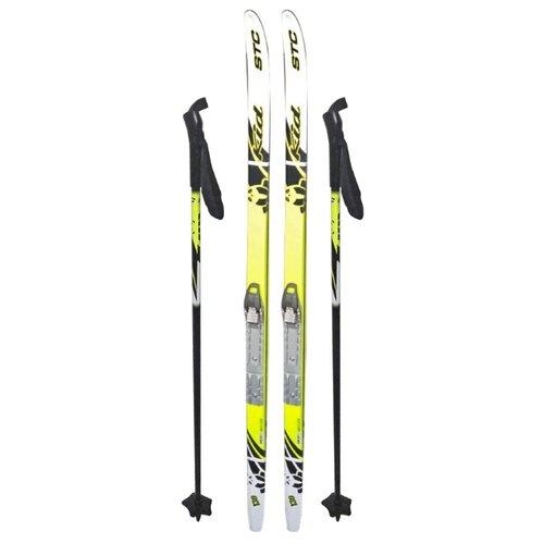 Фото - Беговые лыжи STC SNN Sted Kid с палками желтый/черный 130 см dg 348 snn