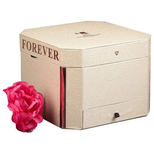 Коробка подарочная Yiwu Zhousima Crafts Forever 22 х 16.5 х 22 см бежевый