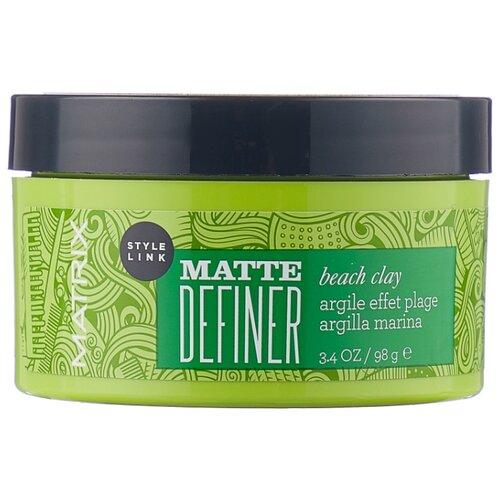 Matrix Глина матовая Style Link Matte Definer Beach Clay, сильная фиксация, 100 мл, 98 г osmo глина воск для волос matte clay extreme 100 мл