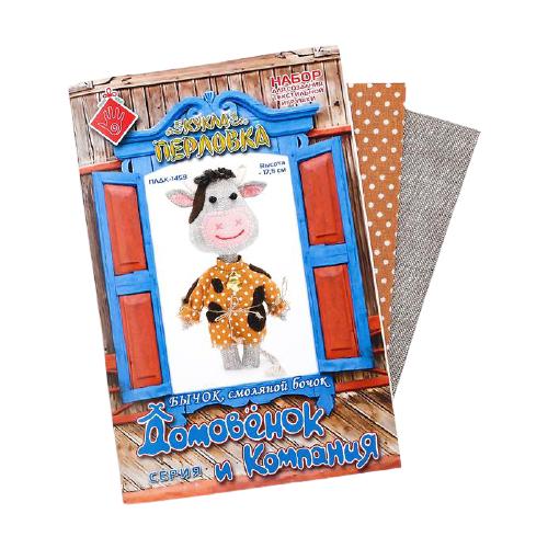Перловка Набор для создания текстильной игрушки Бычок Смоляной бочок (ПЛДК-14594).
