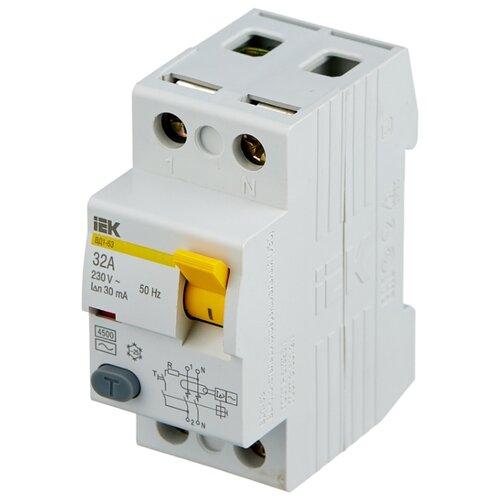 цена на УЗО IEK 30мА тип AC ВД1-63 MDV10-2 2 полюса 32 А