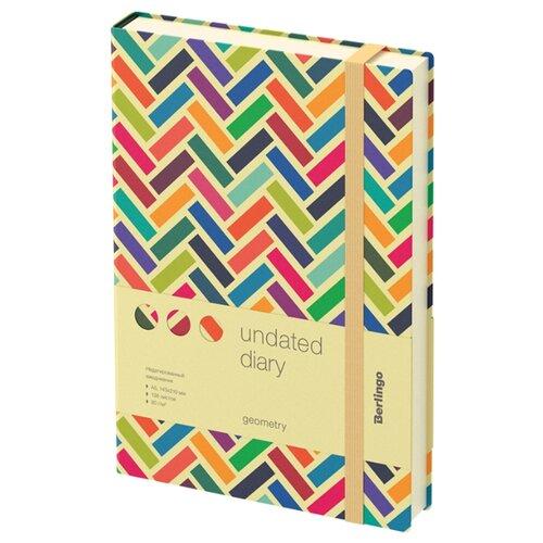 Купить Ежедневник Berlingo Geometry недатированный, искусственная кожа, А5, 136 листов, разноцветный, Ежедневники, записные книжки