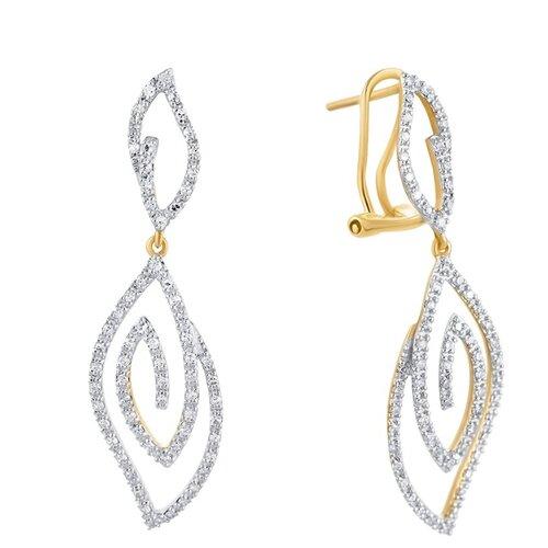 JV Золотые серьги с бриллиантами KD0071CED-SR-YG