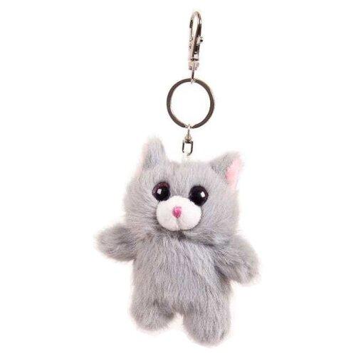 Купить Игрушка-брелок ABtoys Флэтси Мини Котик серый 9.5 см, Мягкие игрушки