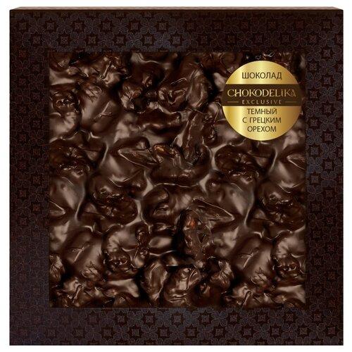 Шоколад Chokodelika темный с грецким орехом, 80 г шоколад chokodelika молочный с кешью 80 г
