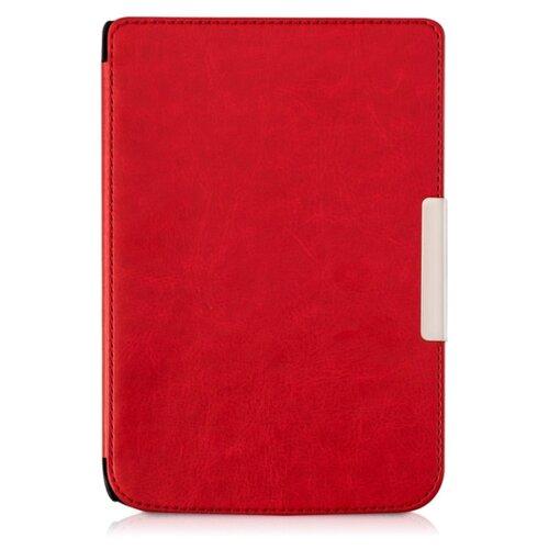 Чехол-обложка футляр MyPads для PocketBook 626 Plus Touch Lux 3 из качественной эко-кожи тонкий с магнитной застежкой красный