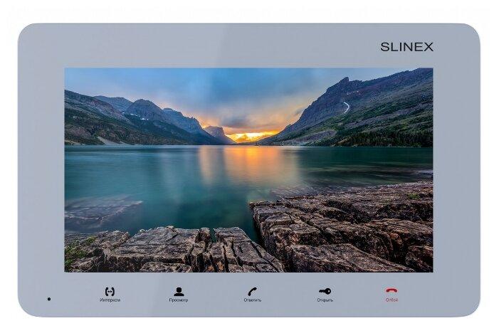 Домофон (переговорное устройство) Slinex SM-07M серебро (домофон)