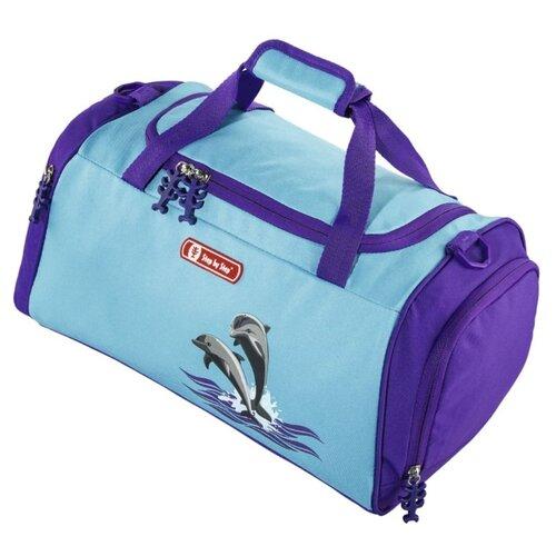 цена на Сумка спортивная Step By Step Happy Dolphins, голубой/фиолетовый