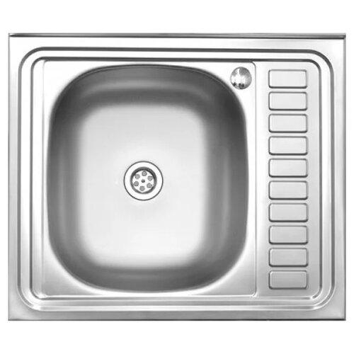 Накладная кухонная мойка 60 см MELANA MLN-6050L нержавеющая сталь кухонная мойка melana 015 t r 10