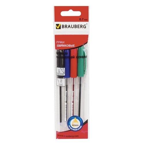 Купить BRAUBERG Набор шариковых ручек Rite-Oil, 0.7 мм, 4 шт (142150), Ручки