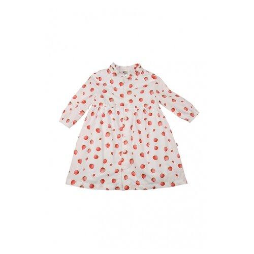 Платье Mini Maxi размер 104, белый платье oodji ultra цвет красный белый 14001071 13 46148 4512s размер xs 42 170