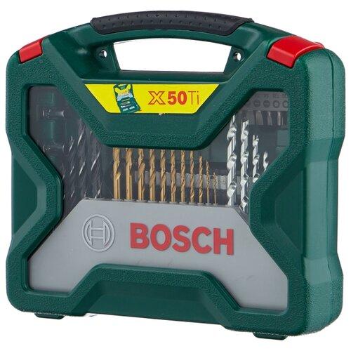 Набор оснастки BOSCH (50 предм.) Titanium X-Line 50 (2.607.019.327) набор оснастки bosch x line 103 предмета