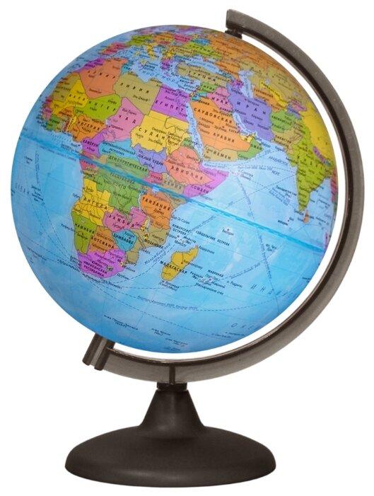 Глобус политический/физический, диаметр 250 мм, с подсветкой
