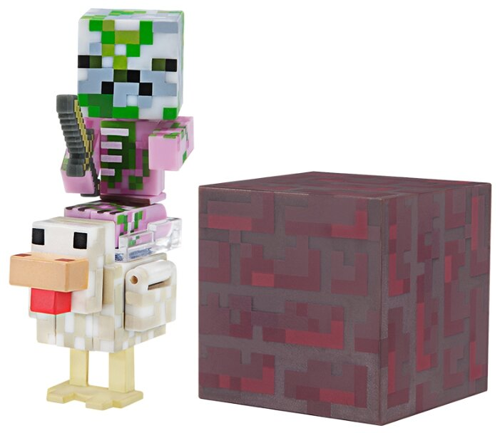 Фигурка Jazwares Minecraft Baby Zombie Pigman Jockey TM19978