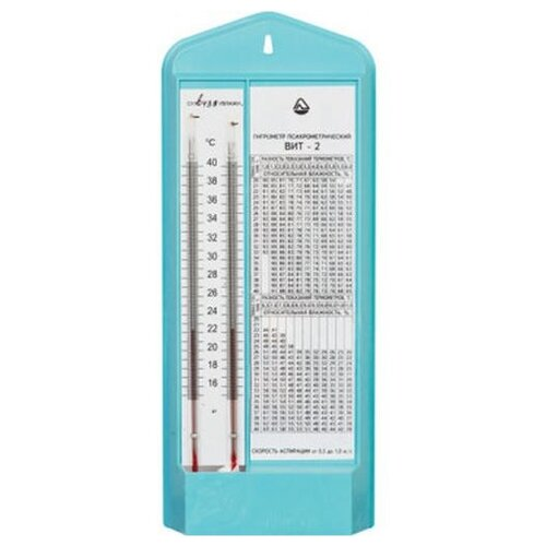 Гигрометр Стеклоприбор ВИТ-2 белый/голубой