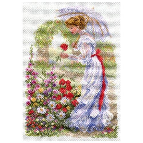 подсолнухи в вазе рисунок на канве 37 49 37х49 26х39 матренин посад 1239 В цветущем саду Рисунок на канве 37/49 37х49 (28х40) Матренин Посад 1700