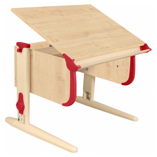 Купить Стол ДЭМИ СУТ-24 75x55 см клен/красный/бежевый, Парты и столы