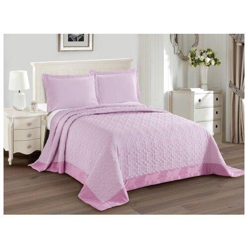 Комплект с покрывалом Cleo Monifico 240х260 см, розовый комплект с покрывалом cleo gabriella 240х260 см бежево зеленый