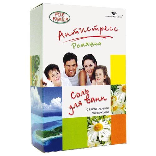 Северная жемчужина Соль для ванн For Family Ромашка - антистресс, 500 г