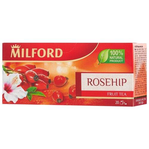 Фото - Чай красный Milford Rosehip в пакетиках, 40 г 20 шт. чай в пакетиках фиточаи байкальские женский лечебный с боровой маткой 20 шт по 1 5 г