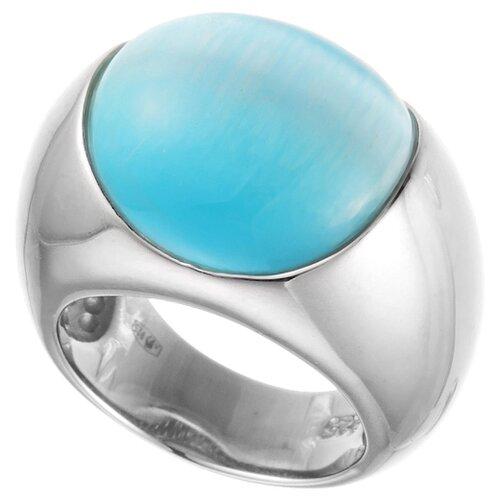 ELEMENT47 Кольцо из серебра 925 пробы с ювелирным стеклом SR0562_US_001_WG, размер 18.25