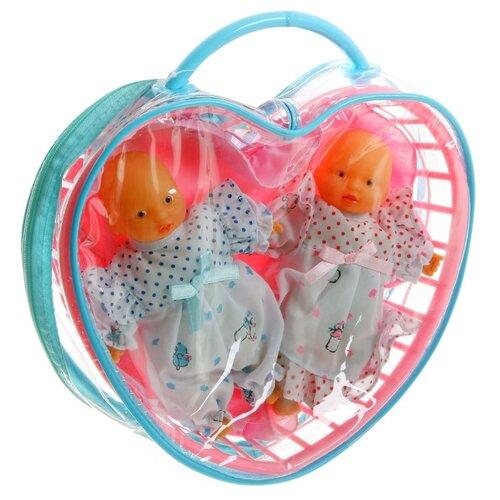 Купить Пупсы Гратвест в сумке-сердце, 2 штуки (Д8927), Куклы и пупсы