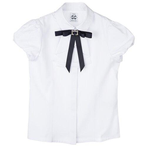 Блузка playToday размер 146, белый