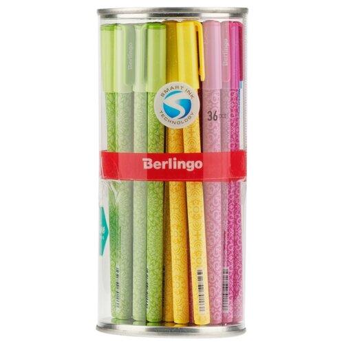 Купить Berlingo Набор шариковых ручек Funline. Ornament, 0.5 мм, 36 шт (CBp_07267), синий цвет чернил, Ручки