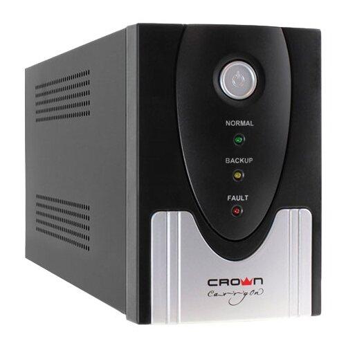 Интерактивный ИБП CROWN MICRO CMU-SP500IEC USB черный/серебристый