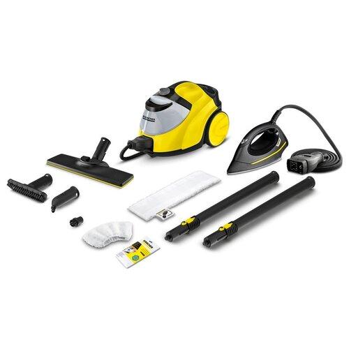 Пароочиститель KARCHER SC 5 EasyFix Iron, желтый/черный пароочиститель karcher sc 1 easyfix желтый черный