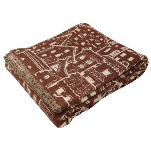 Одеяло ARLONI Городской ландшафт хлопковый, всесезонное, 170 х 205 см (коричневый)