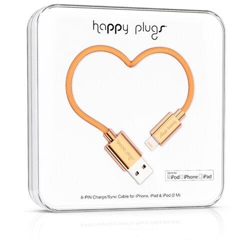 Кабель Happy Plugs Lightning to USB Charge/Sync MFI 2 м rose gold qumo lightning usb mfi rose gold кабель 1 м
