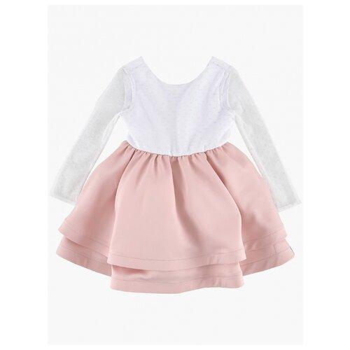 Платье Mini Maxi размер 116, белый/розовый платье oodji ultra цвет красный белый 14001071 13 46148 4512s размер xs 42 170