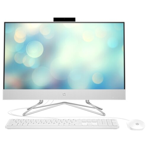 Моноблок HP 24-df0079ur 25X27EA Intel Core i3-1005G1/8 ГБ/SSD/Intel UHD Graphics/23.8/1920x1080/DOS моноблок hp proone 440 g4 aio 23 8 intel core i3 8100t 8gb ddr4 1000gb 128gb ssd dvd rw intel uhd graphics 630 wifi bt kbd mouse windows 10 pro