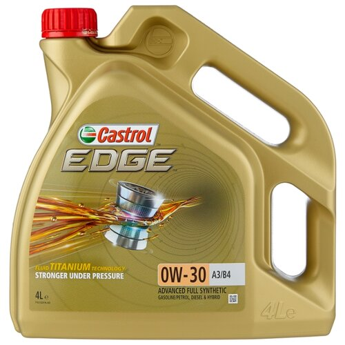 Моторное масло Castrol Edge 0W-30 A3/B4 4 л моторное масло castrol edge 0w 30 a5 b5 4 л