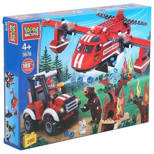 Купить Конструктор ГОРОД МАСТЕРОВ Пожарная служба 3578 Пожарный самолёт, Конструкторы