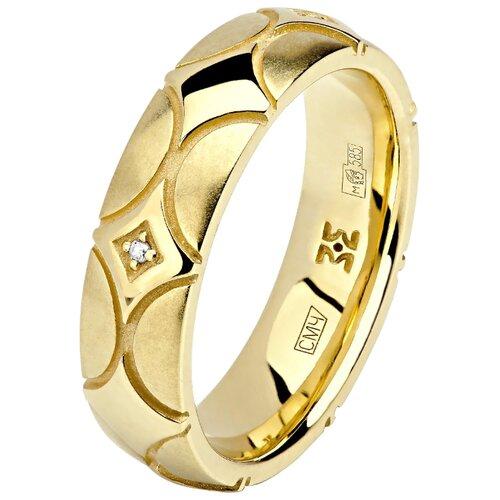 Эстет Кольцо с 4 бриллиантами из жёлтого золота 01О630333, размер 18.5