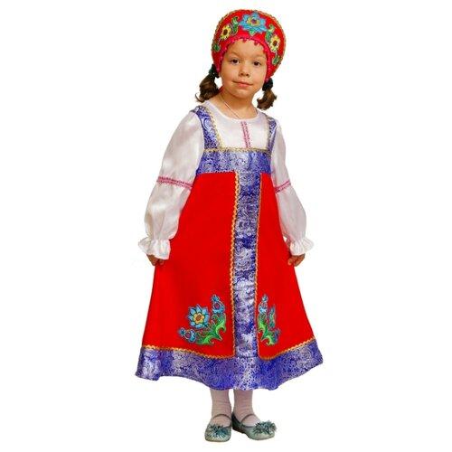 Купить Костюм Elite CLASSIC Русская красавица, красный, размер 34 (134), Карнавальные костюмы